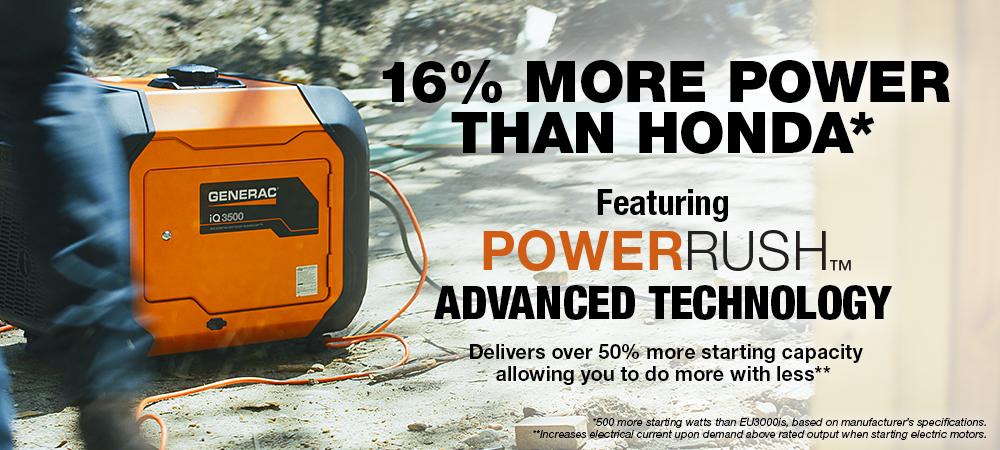 MORE POWER - <strong> 16% More Power than Honda*</strong>