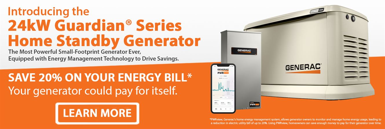 Introducing the 24kW Home Standby Generator