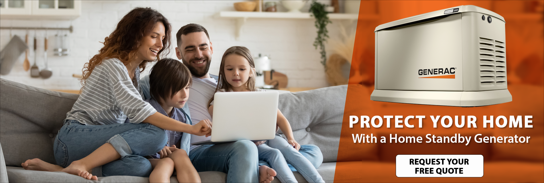 Free 7-Year Warranty with Purchase of Generac Home Standby Generator - Terms and Conditions Apply