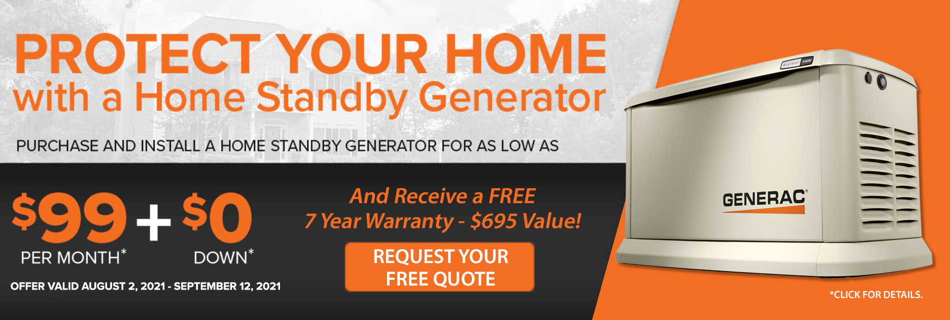 Protect Your Home with a Home Standby Generator - Special Financing Available