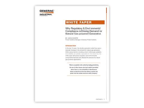 Generac Industrial Power - Whitepapers | Generac Industrial