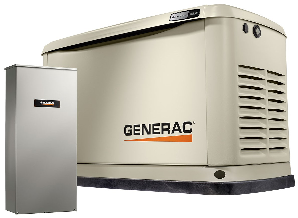 Generac Power Systems 10kw Guardian Series Home Generator With Transfer Switch 7172