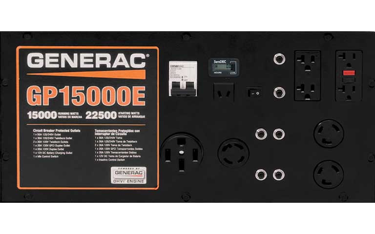 Generac power systems 15000 watt gp series portable generator with generac stronggp series 15000estrong portable generator asfbconference2016 Image collections