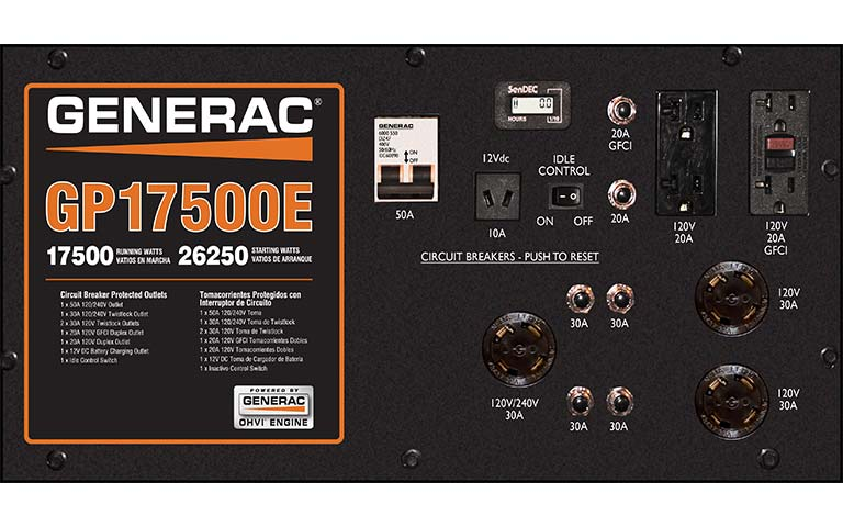 Generac Power Systems Watt GP Series Portable Generator With - Generac gp17500e wiring diagram