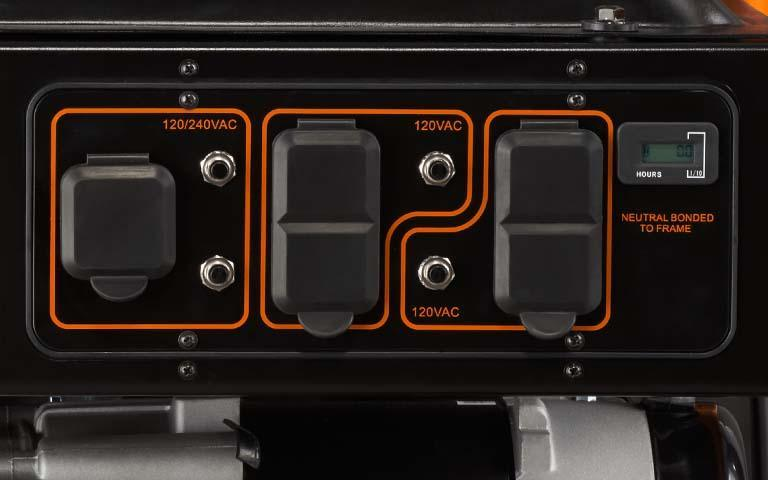 Generac Power Systems - 5500 watt GP Series Portable Generator - 5939Generac Power Systems