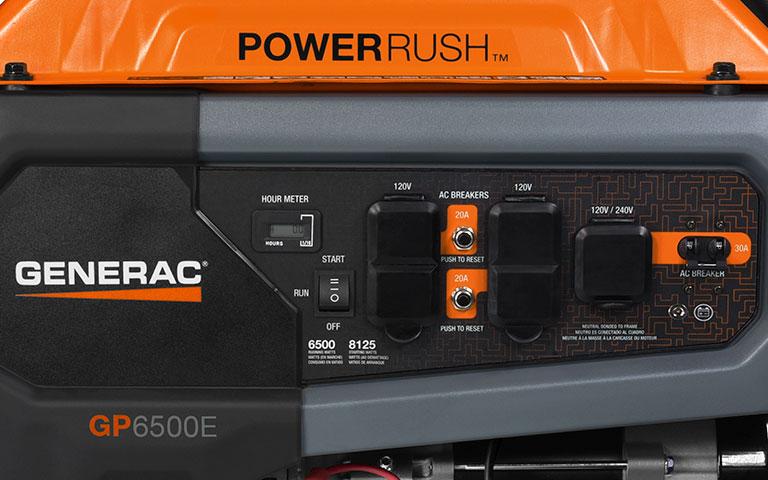 Generac <strong>GP Series 6500E 49ST/CSA</strong> Portable Generator