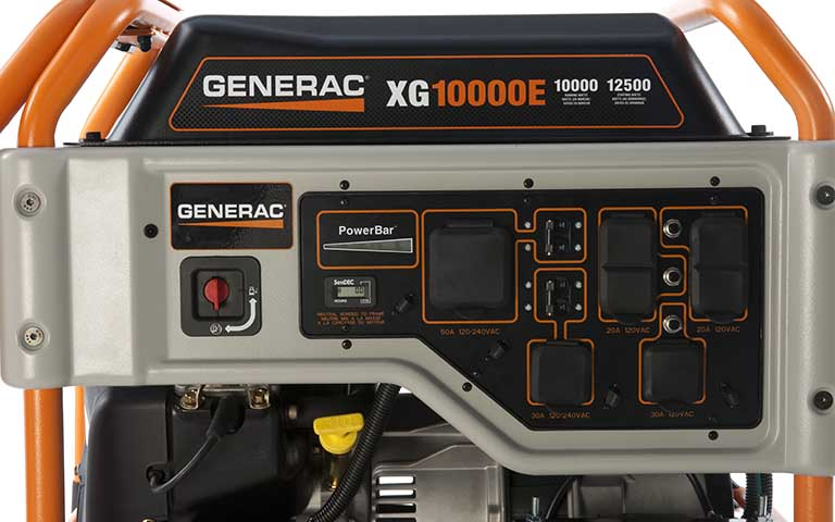 Generac Power Systems Portable Generator Xg Series Xg10000e