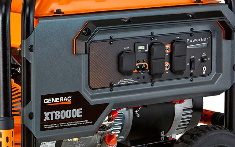 xt8000e portable generator strong features