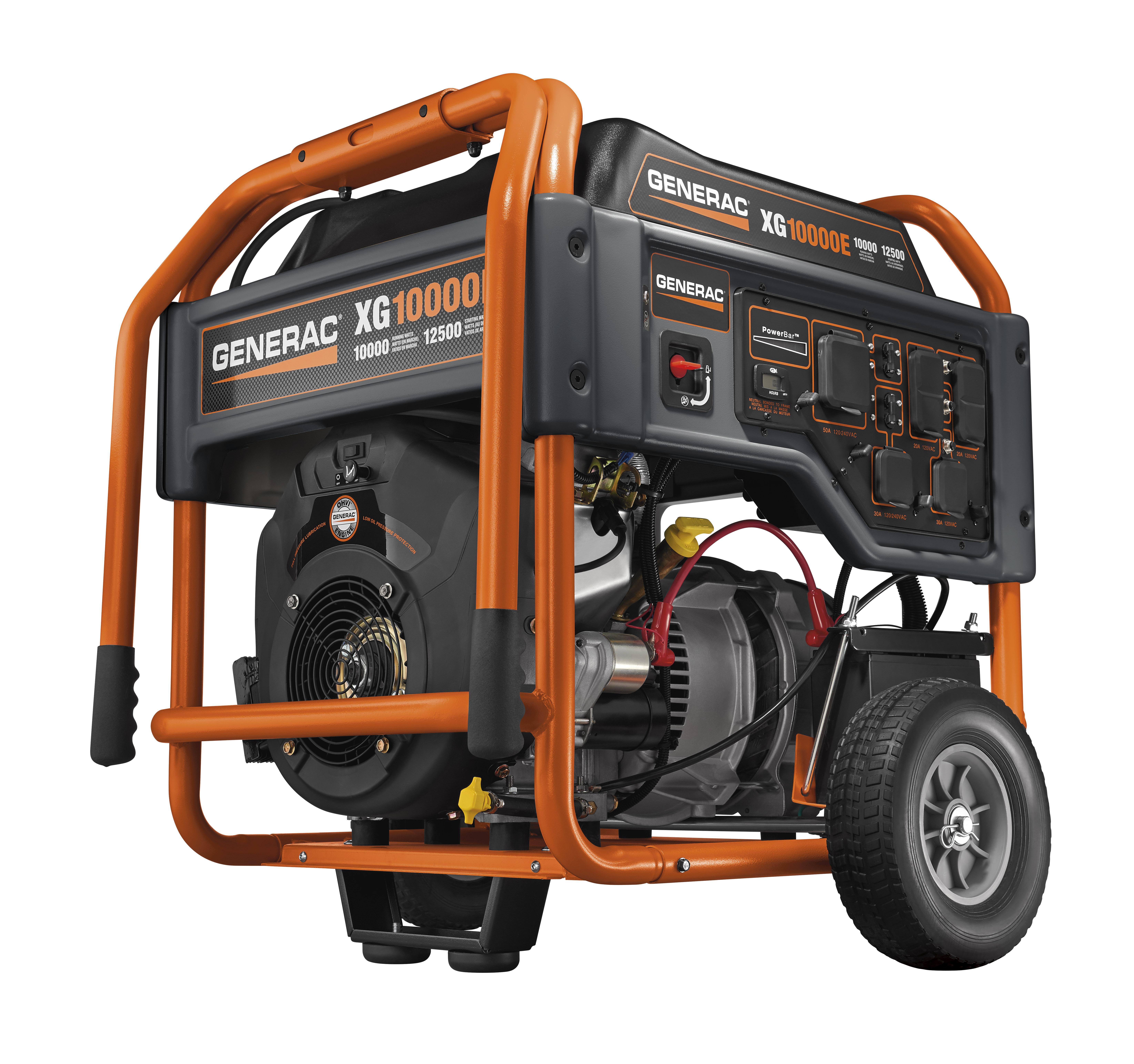 generac power systems - 10000 watt xg series portable generator with
