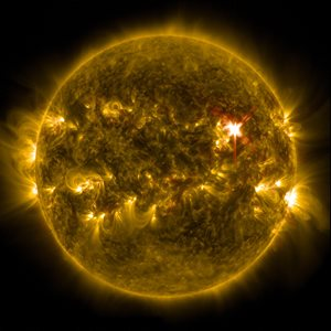 Solar flares greatly affect power here on Earth.