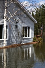 Flooding around the exterior of a home can easily go into the basement